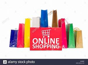 L Shop Onlineshop : online shopping concept using shopping bags isolated on white stock photo 104694038 alamy ~ Yasmunasinghe.com Haus und Dekorationen
