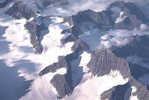 Aerial of glacial geology, Greenland