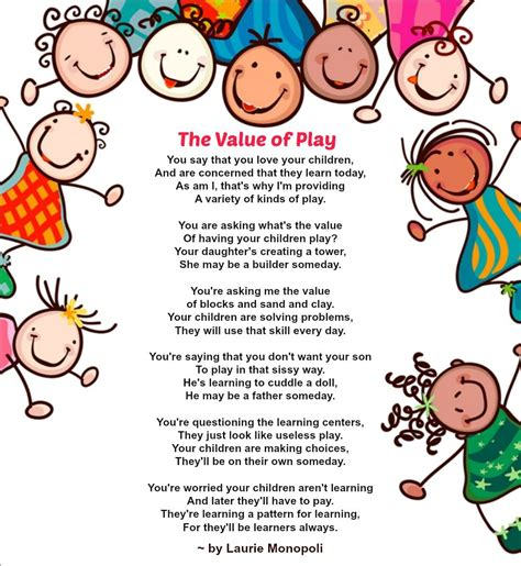 the value of play a special poem that highlights the 239 | 945931b359e7136dac5c726c84e0f1c2