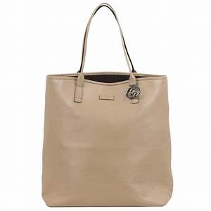 GUCCI Beige Leather SHOPPING BAG Tote Handbag For Sale at ...