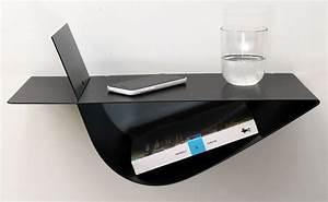 Table De Nuit Metal : tables de chevet suspendues noires chevets suspendus ~ Teatrodelosmanantiales.com Idées de Décoration