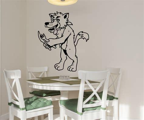 Wandtattoo Kinderzimmer Wolf by Wandtattoo Wolf Essen Zoo Tiere Wandsticker Sticker Tier