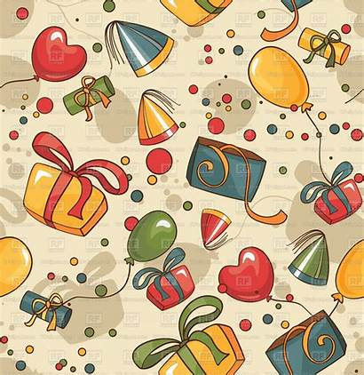 Birthday Wrapping Gifts Paper Balloons Seamless Gift