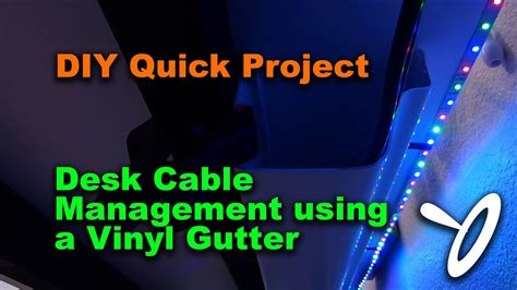 diy quick project desk cable management youtube