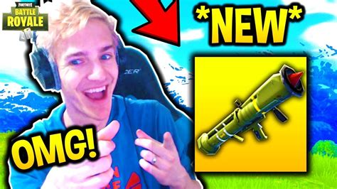 reacts to new guided missile launcher fortnite
