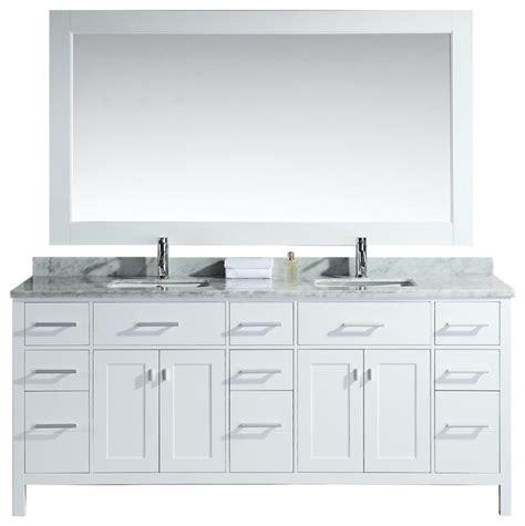 78 quot sink vanity set white bathroom
