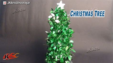 how to make christmas tree with garland diy christmas decorations jk arts 663 youtube