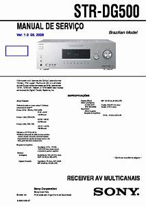 Sony Str-dg500  Str-dg600 Service Manual
