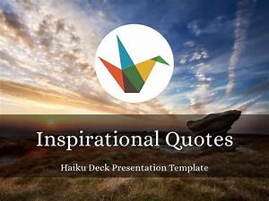 Powerpoint Theme Templates Inspirational Quotes Presentation Template ç å æ