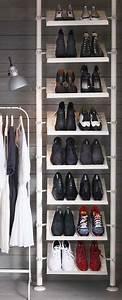 Rangement Chaussures Penderie : un rangement chaussures ikea int grer une penderie ~ Premium-room.com Idées de Décoration