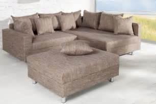 sofa mit hocker design ecksofa mit hocker hellbraun riess ambiente de