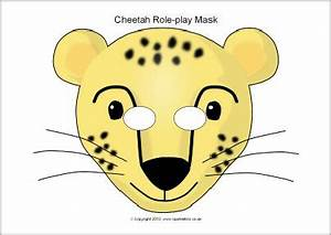 this website has tons of free printable masks cheetah role With cheetah face mask template