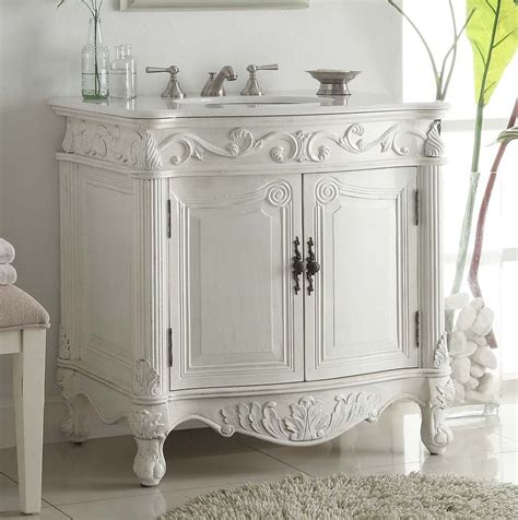 furniture vanity 32 quot antique white bathrom sink vanity cf 2873w aw