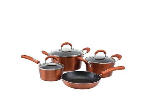 hamilton beach  piece textured copper cookware set walmart canada