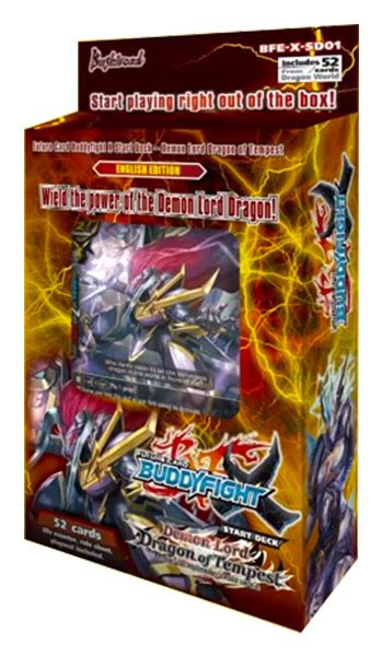 Buddyfight Trial Deck 3 by Bfe X Sd01 Buddyfight Lord Of Tempest Start