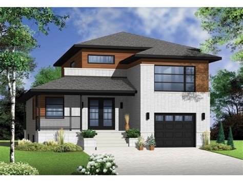 Narrow Lot House Plans With Front Garage MODERN HOUSE