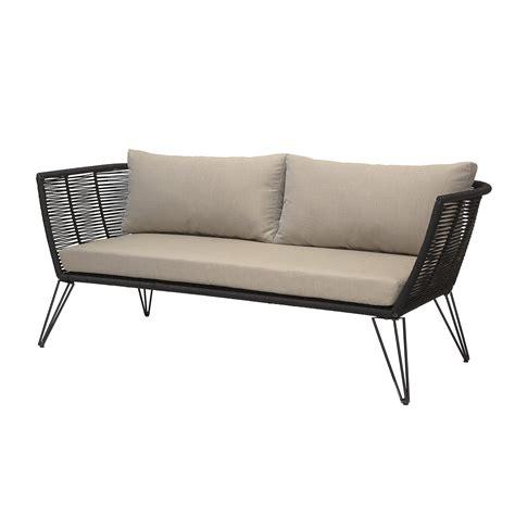 lounge sofa outdoor bloomingville lounge sofa outdoor metall schwarz