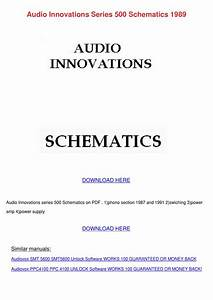 Audio Innovations Series 500 Schematics 1989 By Wei