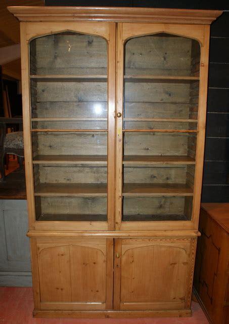 English Pine Bookcase  Antique Bookcases