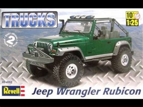 build  jeep wrangler rubicon  scale revell