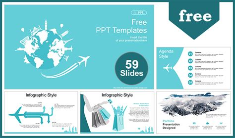 world travel concept powerpoint templates   fully