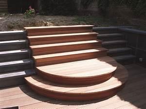 Escalier Terrasse Bois : terrasses en bois menuiserie fontaine ~ Nature-et-papiers.com Idées de Décoration