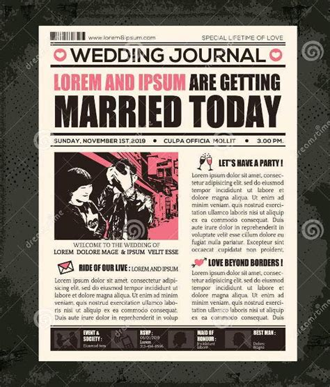 Free editable newspaper templates professionally designed for a multitude of formats. Wedding Newspaper Templates - 7+ Word, PDF, PSD, Indesign ...