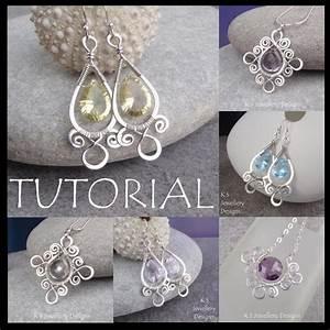 Wire Jewelry Tutorial Spiral Loop Frames Earrings