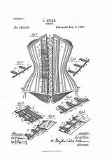 Adult Corset Coloring Patent Colouring Prints sketch template
