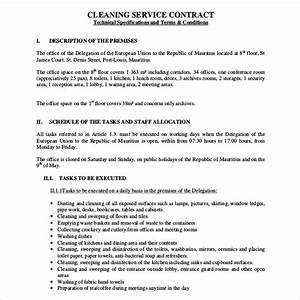cleaning service agreement template emsecinfo With janitorial service contract template