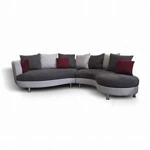 Canape d39angle arrondi lind moderne achat vente canape for Canapé d angle arrondi tissu