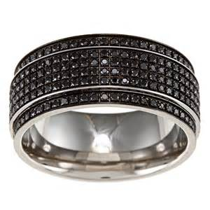 stainless steel black wedding rings with diamonds for ipunya - Black Wedding Rings With Diamonds
