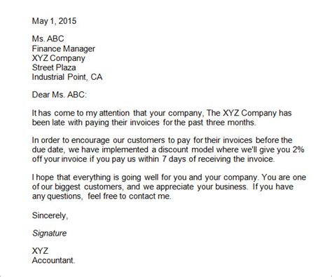 sample business letters format   word