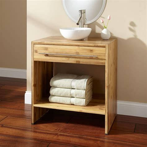 salle de bain avec vasque a poser meuble salle de bain bambou et accessoires en 50 id 233 es