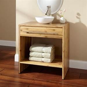 Meuble De Salle De Bain En Bambou : poignee de porte en bois 7 meuble salle de bain bambou ~ Edinachiropracticcenter.com Idées de Décoration