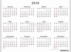 2018 Calendar Monday First – 2018 New Year Images