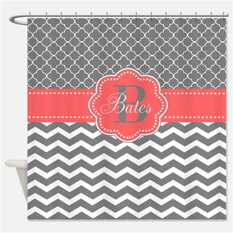 coral and gray shower curtain coral shower curtains coral fabric shower curtain liner