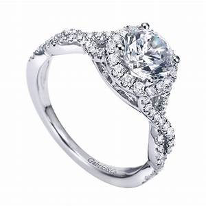 Gabriel Co Engagement Rings Diamond Halo 42ctw Setting