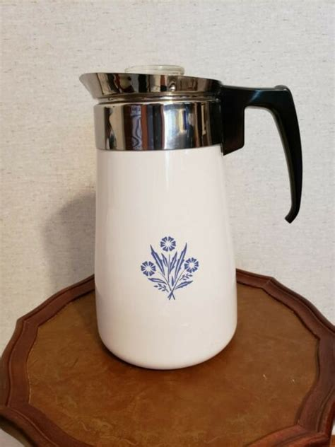 Popular coffee pot stovetop of good quality and at affordable prices you can buy on aliexpress. Vintage Corning Ware 9 Cup Cornflower Stove Top Percolator Coffee Pot Immaculate for sale online ...