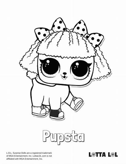 Lol Coloring Pages Pupsta Doll Surprise Series