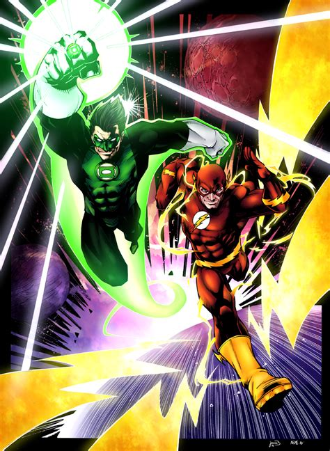 green lantern and flash by sorathepanda on deviantart