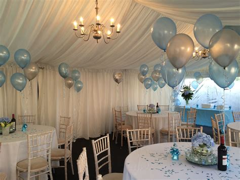 Complementary Floor And Table Balloon Decorations All
