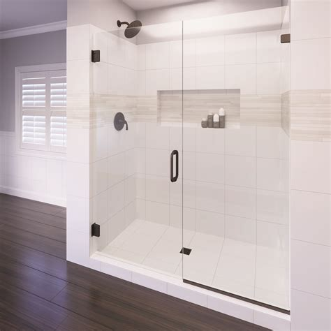 celesta frameless 38inch glass swing door amp� basco