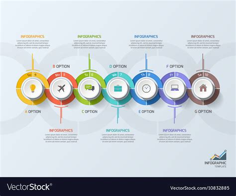 timeline business infographic template 7 steps vector