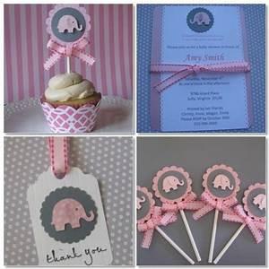 Baby Shower Elefantes rosa y gris Dale Detalles