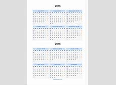 Split Year Calendars 2015 2016 Calendar from July 2015