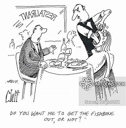 Fishbone Rude Waiter Choking Cartoon Cartoons Funny
