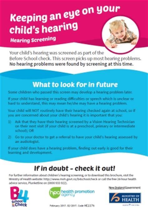 keeping  eye   childs hearing hearing