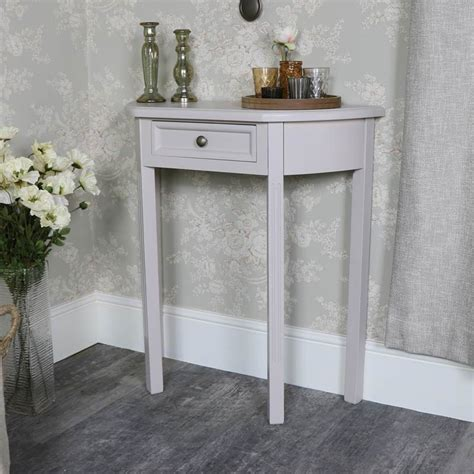 half moon table with drawer half moon console table with drawer storage daventry grey
