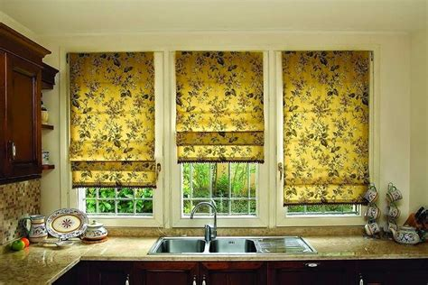 25 ideas for kitchen window curtains and blinds color material length pattern